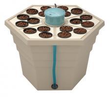 Гидропонная система GHE Hydro/Aero для 18 растений, fi75mm, RAINFOREST 2,65л, 66x66xh43cm