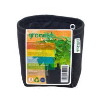 Gronest 2 л, горшок текстильный квадратный, 12x12xh14cm, аналог Smart Pot, Growbag